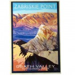 Zabriskie Point Wood Post Card